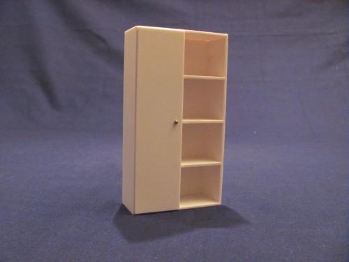schrank bausatz mit 1 t r und regal 1 16. Black Bedroom Furniture Sets. Home Design Ideas